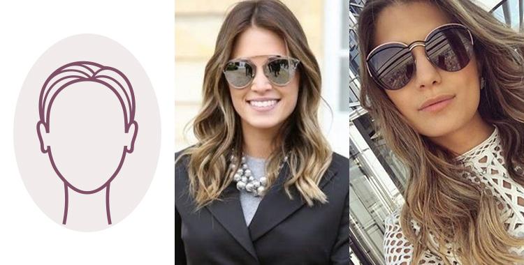 óculos da Dior rosto OVAL
