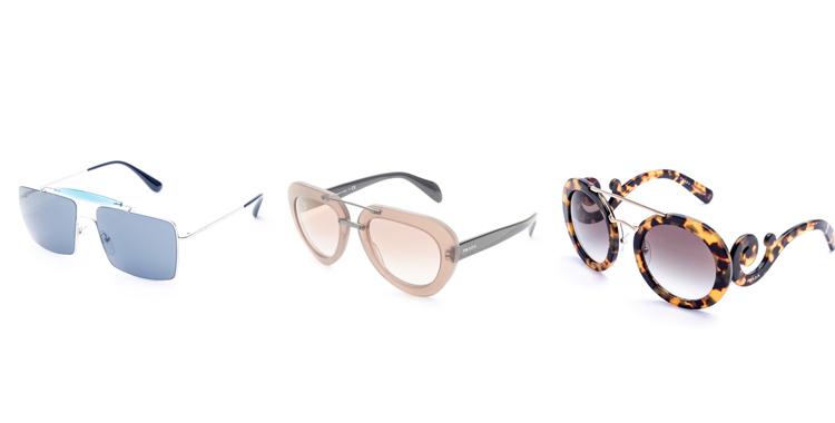 oculos da Prada castanho