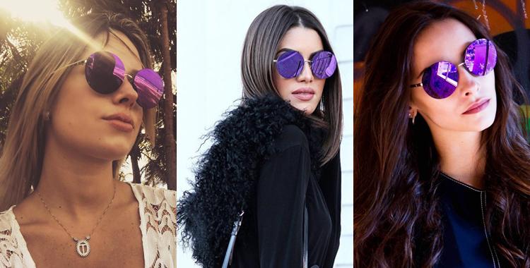 oculos de sol round da Chanel