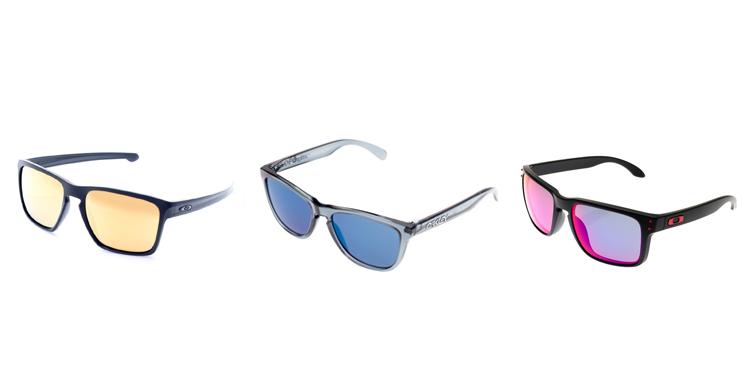oculos de sol Oakley lente colorida