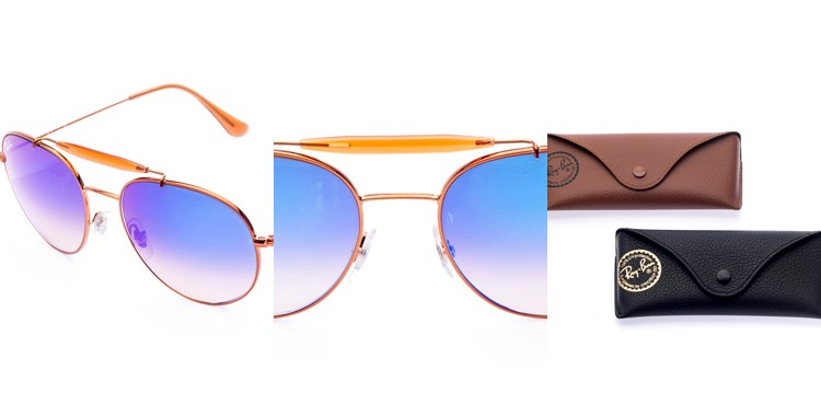 óculos de sol Ray Ban Aviador orange
