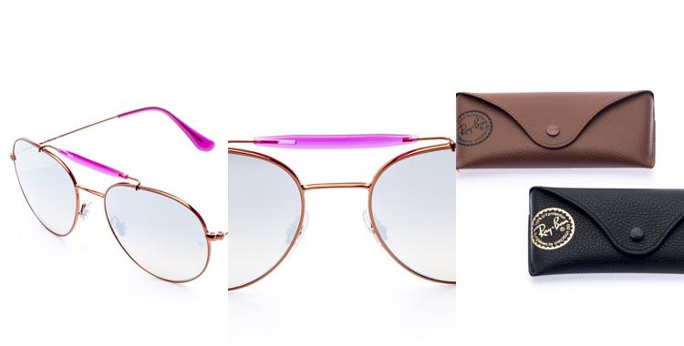 óculos de sol Ray Ban Aviador rosa