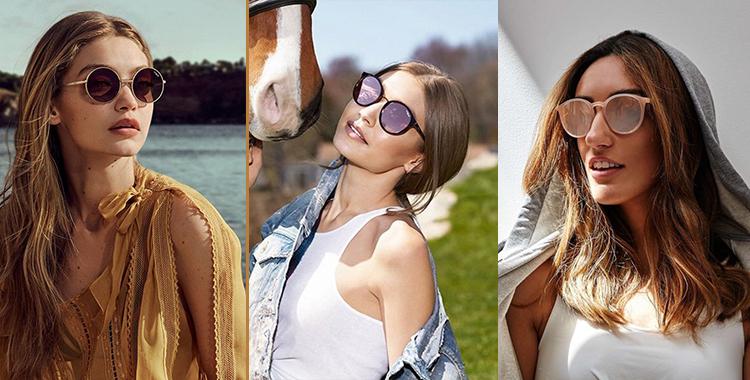 e2414ddad Os óculos de sol da Vogue da Oculum possuem modelos femininos com estilo  cats, que variam entre as armações com cores em dourado e vermelho com  lentes ...